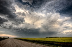 Storm Clouds Saskatchewan summer scenic imaging Canada