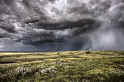 Storm Clouds Saskatchewan wind farm Swift Current Canada
