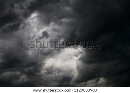 storm clouds sky background texture #1129883903