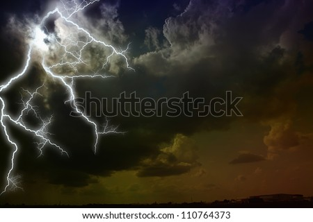 Storm clouds. The sky a background.