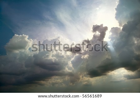 Storm clouds. The sky a background. #56561689