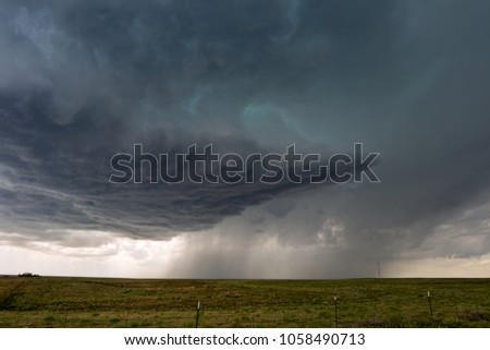 Storm clouds with rain