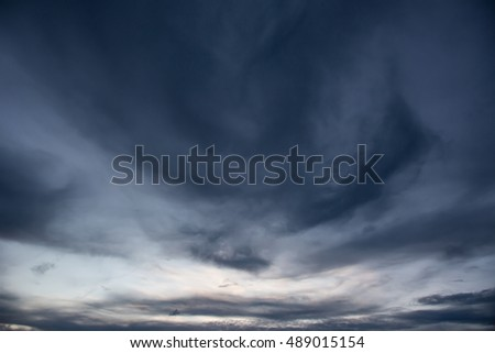 Storm clouds with sunset,user for background #489015154