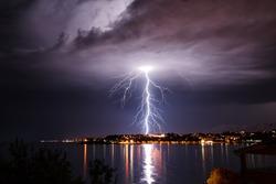 Storm on the coast of Adriatic, Croatia.