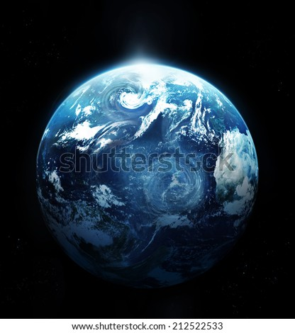 Storm on the planet earth - Original image from NASA