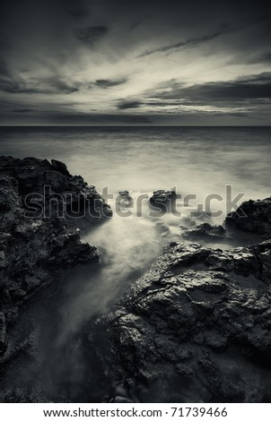 Storm on the sea. Nature composition. #71739466