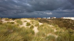 Storm over the Atlantic coast in Le Touquet-Paris-Plage, France