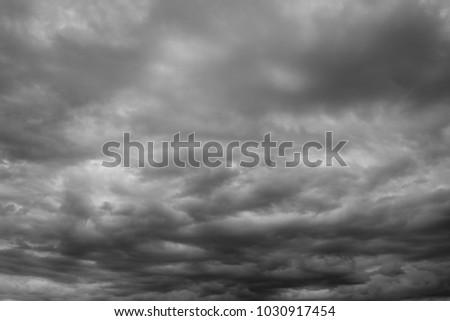 Storm overcast sky, cloudscape. Beautiful cloudscape over horizon, sky.