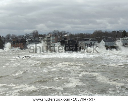 Storm Surge March 3, 2018 Massachusetts #1039047637