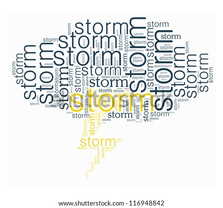 Storm word collage in white background