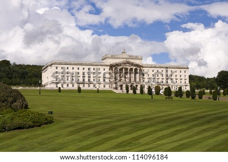 Stormont buildings , the site of the Northern Ireland Government in Belfast Northern Ireland