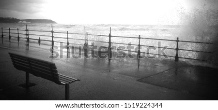 Storms on the seafront North Yorkshire #1519224344