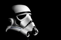 Stormtrooper helmet with black background