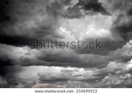Stormy and rainy clouds