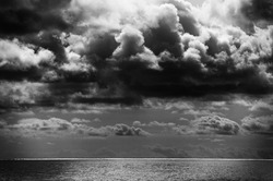 Stormy clouds over the ocean
