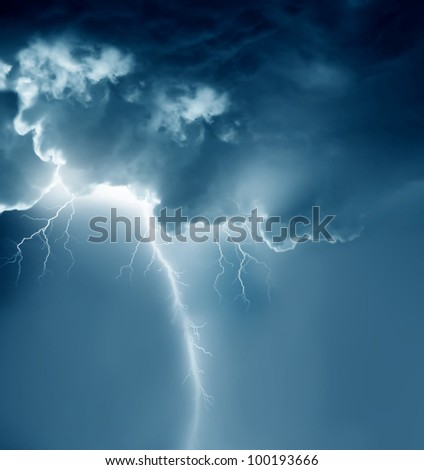 stormy clouds with lightnings