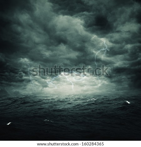 Stormy ocean, abstract natural backgrounds for your design