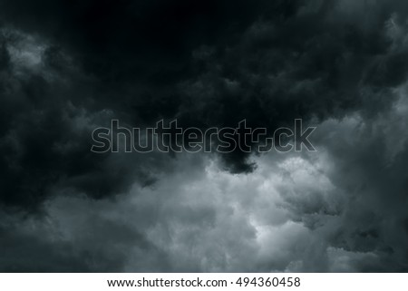 Stormy rain clouds background