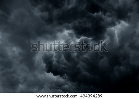 Stormy rain clouds background #494394289