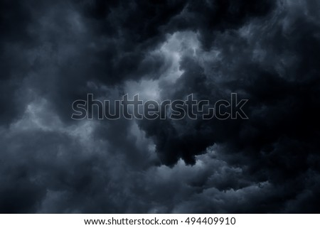 Stormy rain clouds background #494409910