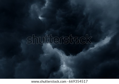 Stormy rain clouds background #669354517