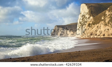stormy sea at Dorset UK