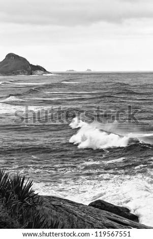 Stormy Sea (Black & white)
