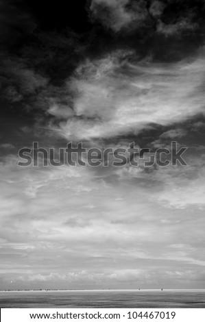 stormy sea sky