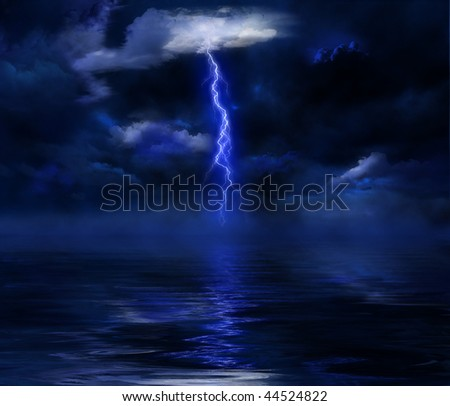 stormy sky over the sea