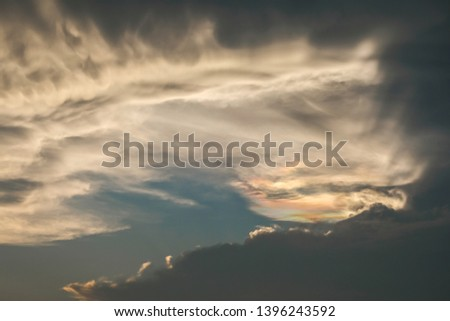 stormy sky with dramatic clouds #1396243592