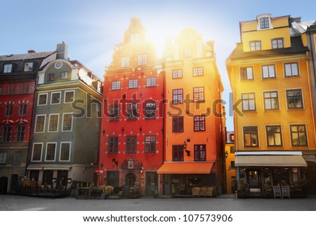 Stortorget place in Gamla stan, Stockholm