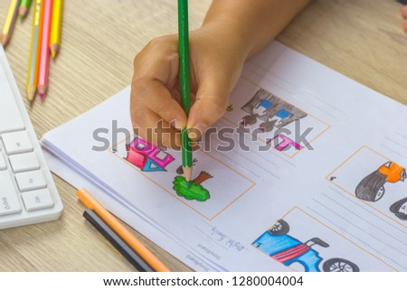 Storyboard drawing with pencil creative sketch cartoon. Storyboarding is process image displayed in sequence for purpose of pre-visualizing motion picture, interactive media. Concept sketching ideas. #1280004004