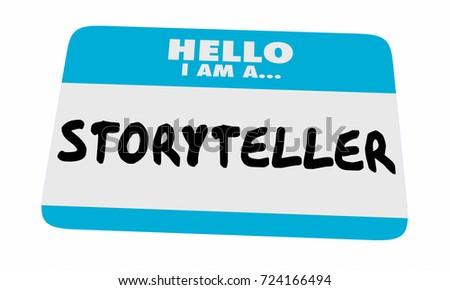 Storyteller Hello Name Tag Sticker Communicate Message 3d Illustration