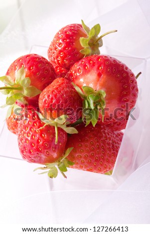 straberry sweet  fresh red juicy summer fruits