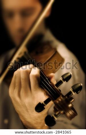 Stradivarius violin - sepia