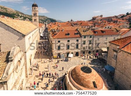 Stradun Street Dubrovnik Photo stock ©