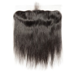 Straight black virgin human hair wide range lace frontal