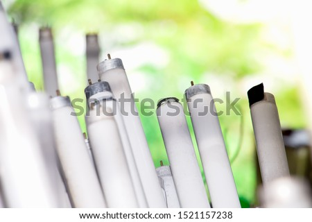Straight Fluorescent Lamps are hazardous waste but can be used recycle, Fluorescent lamps broken will release mercury into the environment The cause of Minamata Diseases at japan. Waste separation.