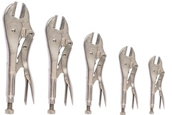 Straight mouth locking pliers, isolated on a white background