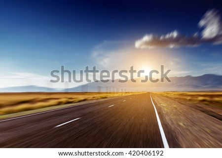 Straight road concept #420406192