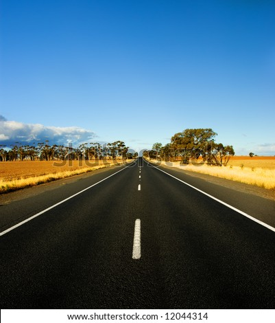 Straight Road in rural Australia