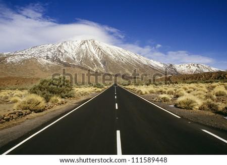 Straight stretch, Teide, Las Canadas, Tenerife, Spain