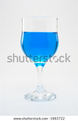strange colored beverages - stock photo