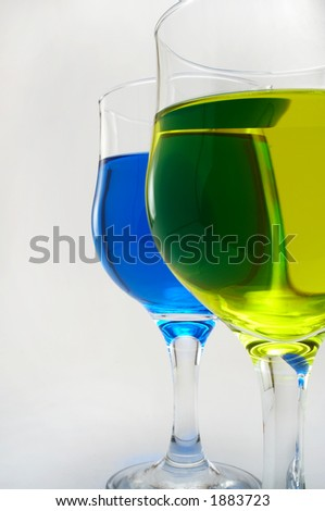 strange colored beverages