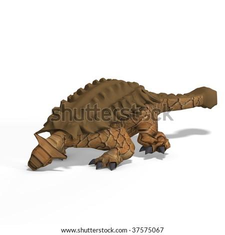 strange dinosaur Ankylosaurus With Clipping Path over white