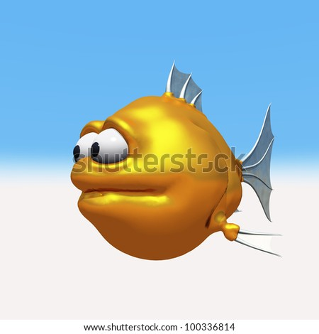 strange goldfish - 3d illustration
