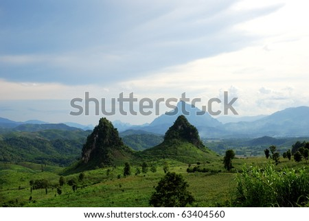strange  mountains in laos