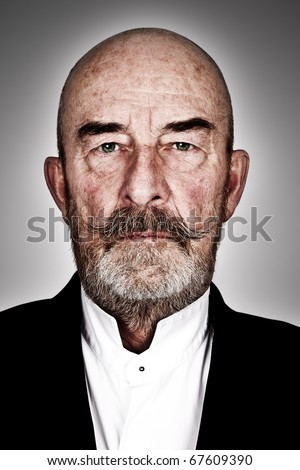 strange old  man with a grey beard - high details