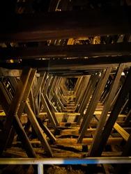 strange roof structure in the Debrecen Big Church