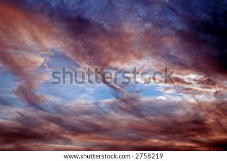 Strange, tornado-like sky
